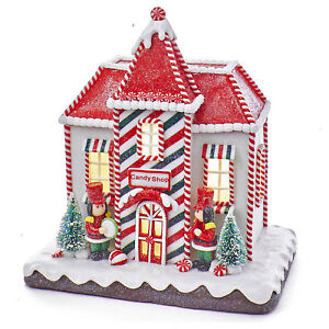 CHRISTMAS-DECORATIONS-LIGHTED-GINGERBREAD-HOUSE-CANDY-SHOP