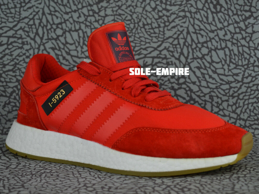 Adidas I-5923 Iniki Runner B42225 Core Red White Gum Sole NEW DS MENS Boost