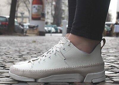 Clarks Originals Schuhe TRIGENIC FLEX white weiß Leder Damen Reduziert NEU SALE   eBay