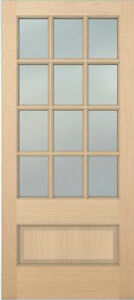 Exterior hemlock solid wood stain grade french doors 12 for 4 panel french doors exterior