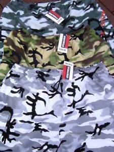 MENS CAMO COMBAT CARGO ARMY SHORTS BIG SIZE 3XL 4XL 5XL  lightweight  camoflaged