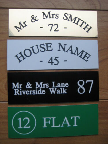 HOUSE FLAT NAME NUMBER DOOR PLATE 150 X 50 *ENGRAVED*