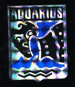 vtg prismatic sticker novelty hippie biker zodiac aquarius 70's motorcycle