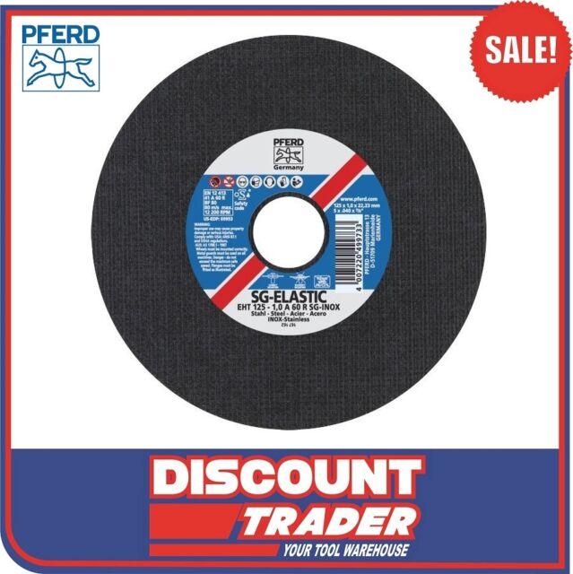 "PFERD Ultra-Thin Premium Cut-Off Wheel INOX EHT 5"" 125mm Pack of 5 61341112-5"