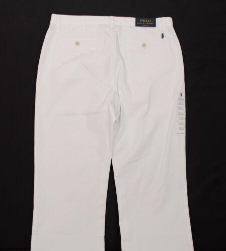 POLO RALPH LAUREN CLASSIC FIT FLAT FRONT MEN/'S COTTON PANTS BLUE WHITE RED GREY