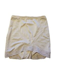 Vintage Panties Flexees Shapewear Pin Up 60s USA Made 1X-32 #6851 Nude Lace