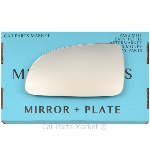 For Hyundai Accent 00-03 Left passenger side wing mirror glass with plate