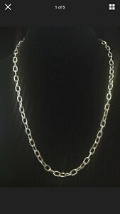 Vintage-Sarah-Coventry-Chain-Necklace-26-adjustable-Silver-Tone