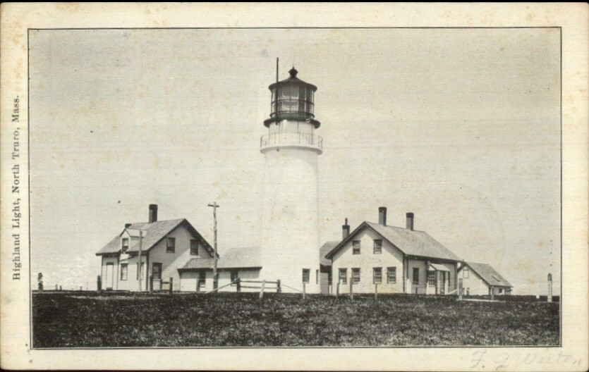 North Truro Cape Cod MA Highland Lighthouse Used 1904 Postcard