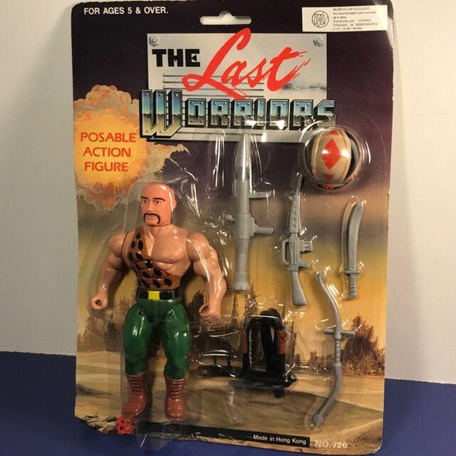 1980 VINTAGE ACTION FIGURE LAST WORRIORS WARRIORS MOC MOC MOC HE MAN TYPE TALOS MANIAC 1de934