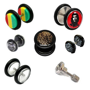 Fake-Ear-Plugs-Image-Piercings-Expander-Stretchers-Acrylic-Tunnels-Cheater-Stud
