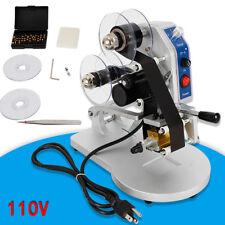 Electric Hot Stamp Printer 110v Hot Foil Stamping Machine Ribbon Date Code Batch