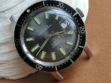 Vintage Louis Superwaterproof Diver Watch w/All SS Submarine Case FOR REPAIR