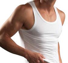 Götzburg Herren Unterhemden ohne Arm 3 Stück Achselhemd Feinripp geringelt