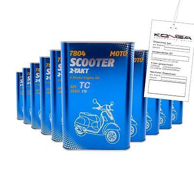 10 Liter Mannol Schmierstoff 7804 SCOOTER 2-TAKT Motoröl 4032021102339