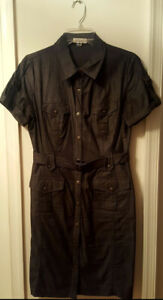 Pre-Owned-Women-s-Black-Calvin-Klein-Jean-Dress-Size-10