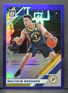 2019-20 Donruss Optic Malcolm Brogdon Purple Prizm Card #108 Indiana Pacers NBA