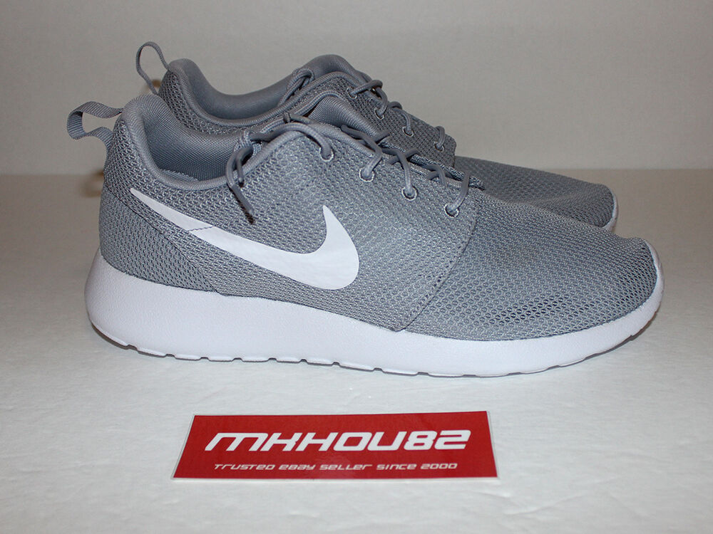 New DS Nike Roshe Run Rosherun Wolf Gray Grey White Running Shoes Comfortable The most popular shoes for men and women