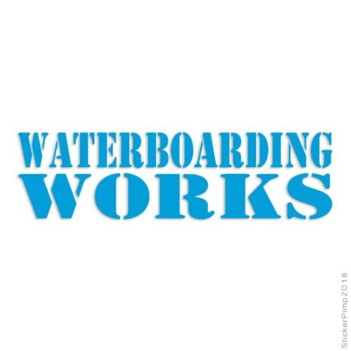 Size #3683 Waterboarding Works Decal Sticker Choose Color