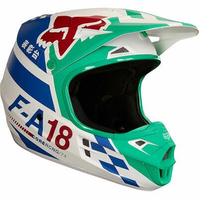 Fox 2018 V1 Sayak Helmet Orange MX Motocross Off-Road Enduro