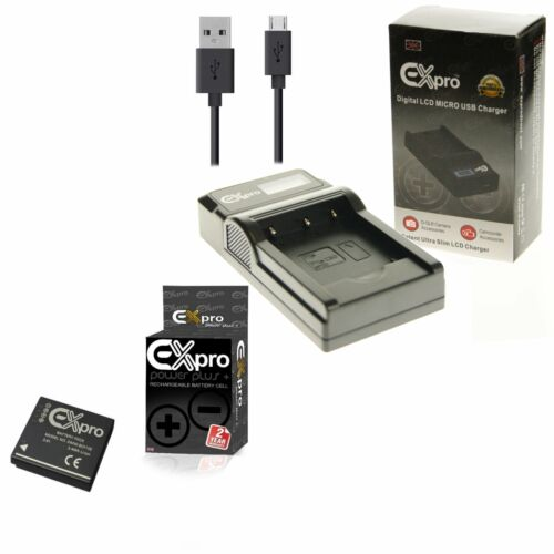 Ex-Pro Batería De La Cámara USB LED DMW-BCF10E Cargador Para P @ L @ DMC-FX68