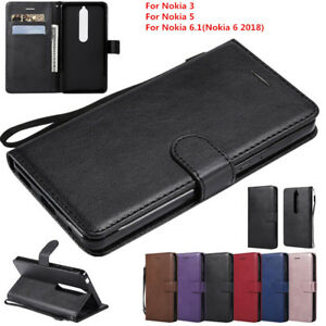 Para-Nokia-6-1-6-2018-3-5-Iman-de-cuero-cierre-magnetico-soporte-ranura-para-tarjeta-Billetera