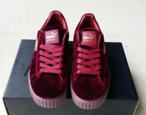 detailed look e4d8d 0a630 Details about New Velvet Puma Fenty PUMA Creeper Rihanna x Pack Trainer  Sneaker Shoes AAA