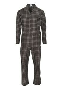 Brioni-Pyjama-Sets-Men-039-s-L-Brown-Checkered