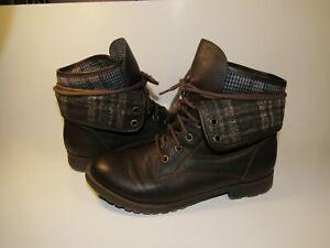 815c4b78605 Details about EUC Rock & Candy by ZiGi Spraypaint Combat Foldover Ankle  Boots Women's 8 Brown