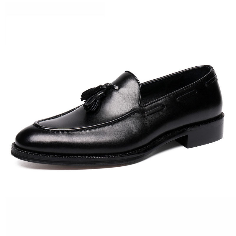 New Men's Tasseled Real Leather Casual Formal Dress shoes Slip On Loafers
