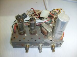 Vintage-TWO-TUBE-AMPLIFIER-from-phonograph-Record-Player-2-TUBE