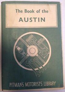 """""""le Livre De La Austin"""" - Rare Vintage 1960 Pitman Automobilistes Livres De Bibliothèque-afficher Le Titre D'origine"""