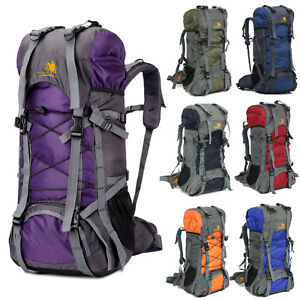 60L Camping Travel Rucksack Backpack Climbing Hiking Bag New 8 Colors Day Packs