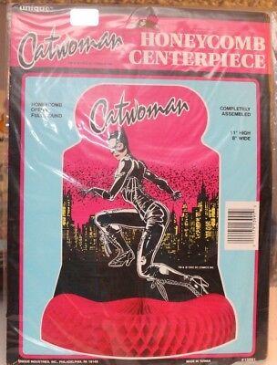 VINTAGE 1992 CATWOMAN HONEYCOMB CENTERPIECE DC COMICS BATMAN UNIQUE NEW PARTY