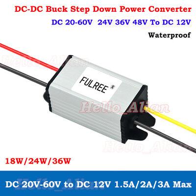 Blackr DC 36V//48V To 12V Buck Converter 20A 240W Waterproof Power Supply Voltage Changer Adapter Regulator
