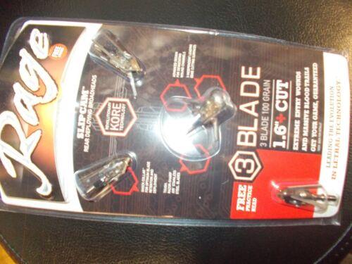 "Rage Kore 3 blade 1.6/"" cut"