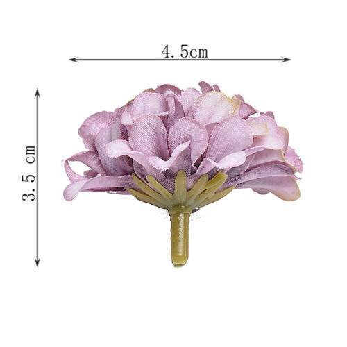 50Pcs Artificial Silk Hydrangea Flower Heads Bulk Craft Wedding Party Decor Hot