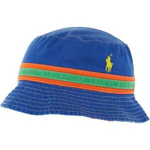 Image is loading POLO-RALPH-LAUREN-Mens-Blue-Multicoloured-Cotton-Bucket- 50969298b1d