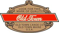 Small 1.5 Vintage Old Town Canoe Paddle Vinyl Decal Outboard Boat Qty. 2