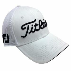 d7212e8d Titleist Pro V1 FJ Structured Sports Mesh Golf Hat White Small ...