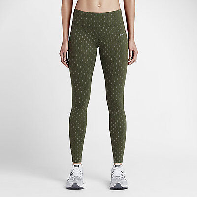 c29a867e79386 Nike Women's Epic Lux Flash Running Tights Olive 687012 325 Size Small (s)  NWT