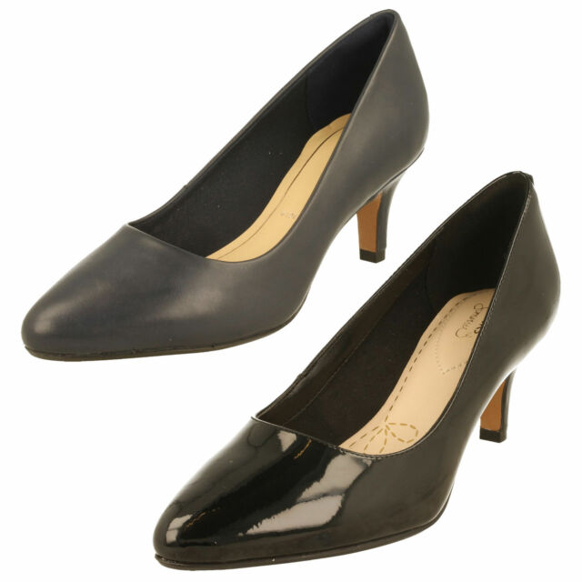 Ladies Clarks Slip On Shoes Low Heeled Court - Isidora Faye