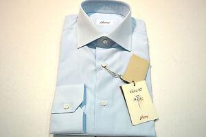 46 overhemd Eu Blue 18 Us Se12 Maat Brioni katoen Nieuw winkelcode 100 CST67Z