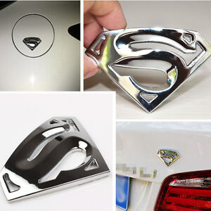 superman s logo 3d chrome metal auto emblem super man car. Black Bedroom Furniture Sets. Home Design Ideas