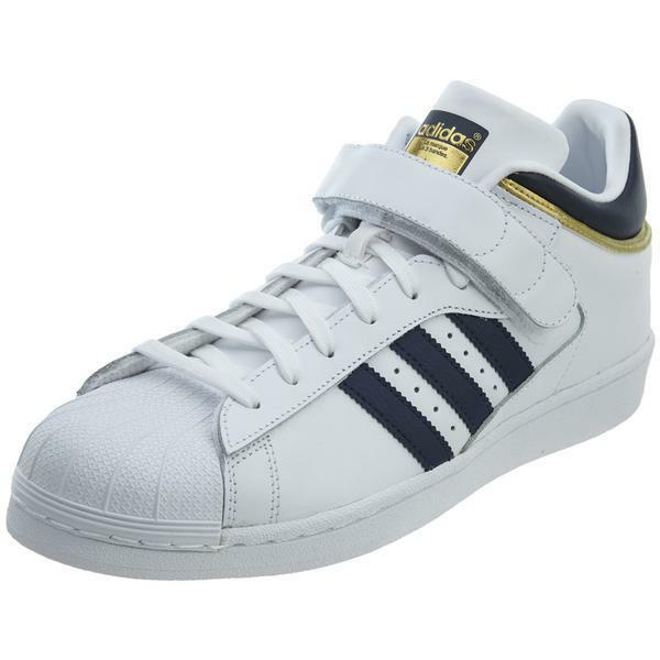 Adidas Pro Shell BY4383 White Navy gold Men SZ 8.5 - 12