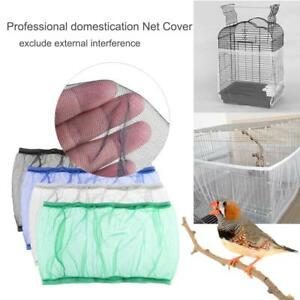 Soft-Mesh-Seed-Catcher-Guard-Parrot-Bird-Cage-Stretchy-Cover-Shell-Skirt-Traps