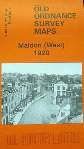 OLD ORDNANCE SURVEY  MAPS MALDON WEST ESSEX  1920 Godfrey Edition New