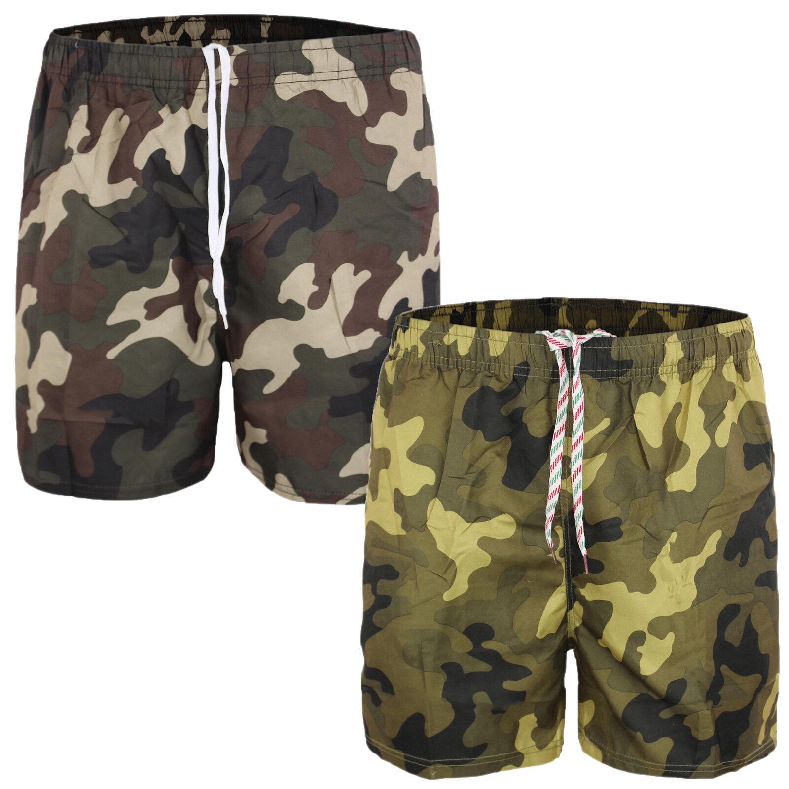 bas prix nouveau style et luxe en ligne ici Détails sur Maillot de Bain Homme Mer Camouflage Boxer Piscine Short  Bermuda Shorts