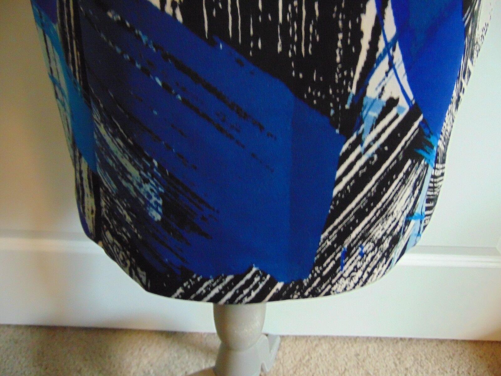 NWT Vince Camuto Sleeveless Sheath Art Inspired Inspired Inspired Bright bluee Dress size 8 d7f786