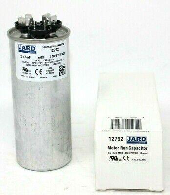 5 uf MFD 370 440 VAC Round Dual Capacitor 12792 Replaces C3555R C4555R 55
